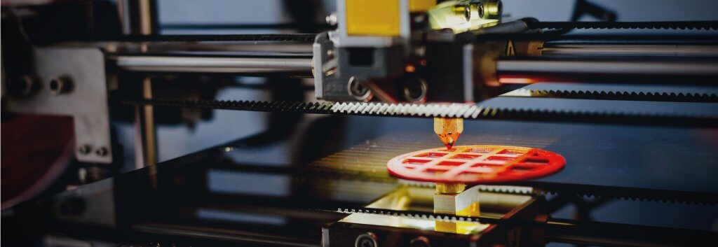 Machine 3D printing a prototype